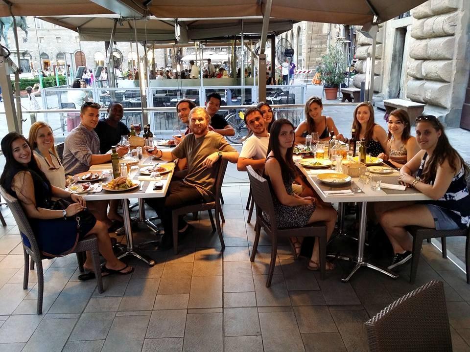 Contiki Florence meal