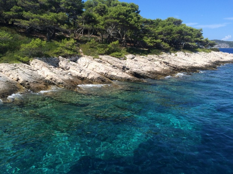clear sea Hvar