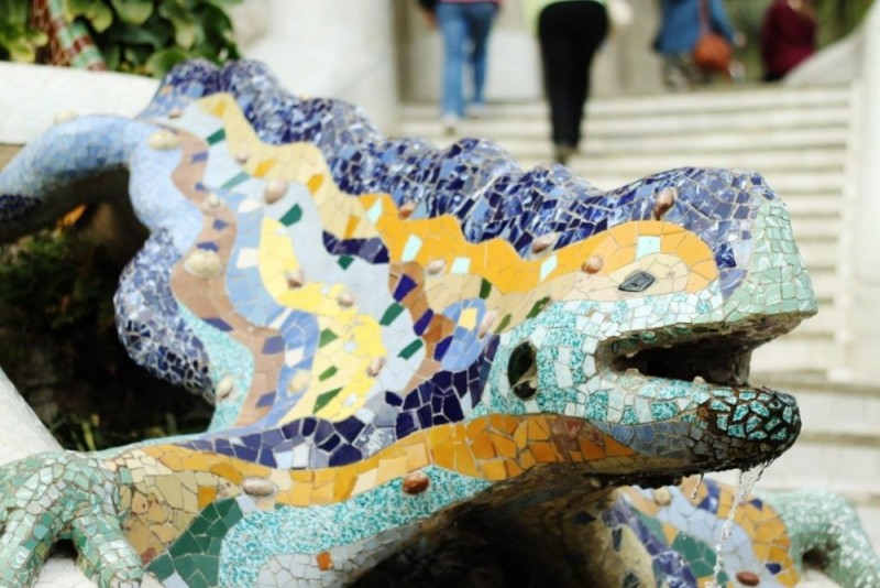 park guell animal