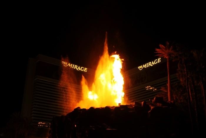 fire show mirage las vegas