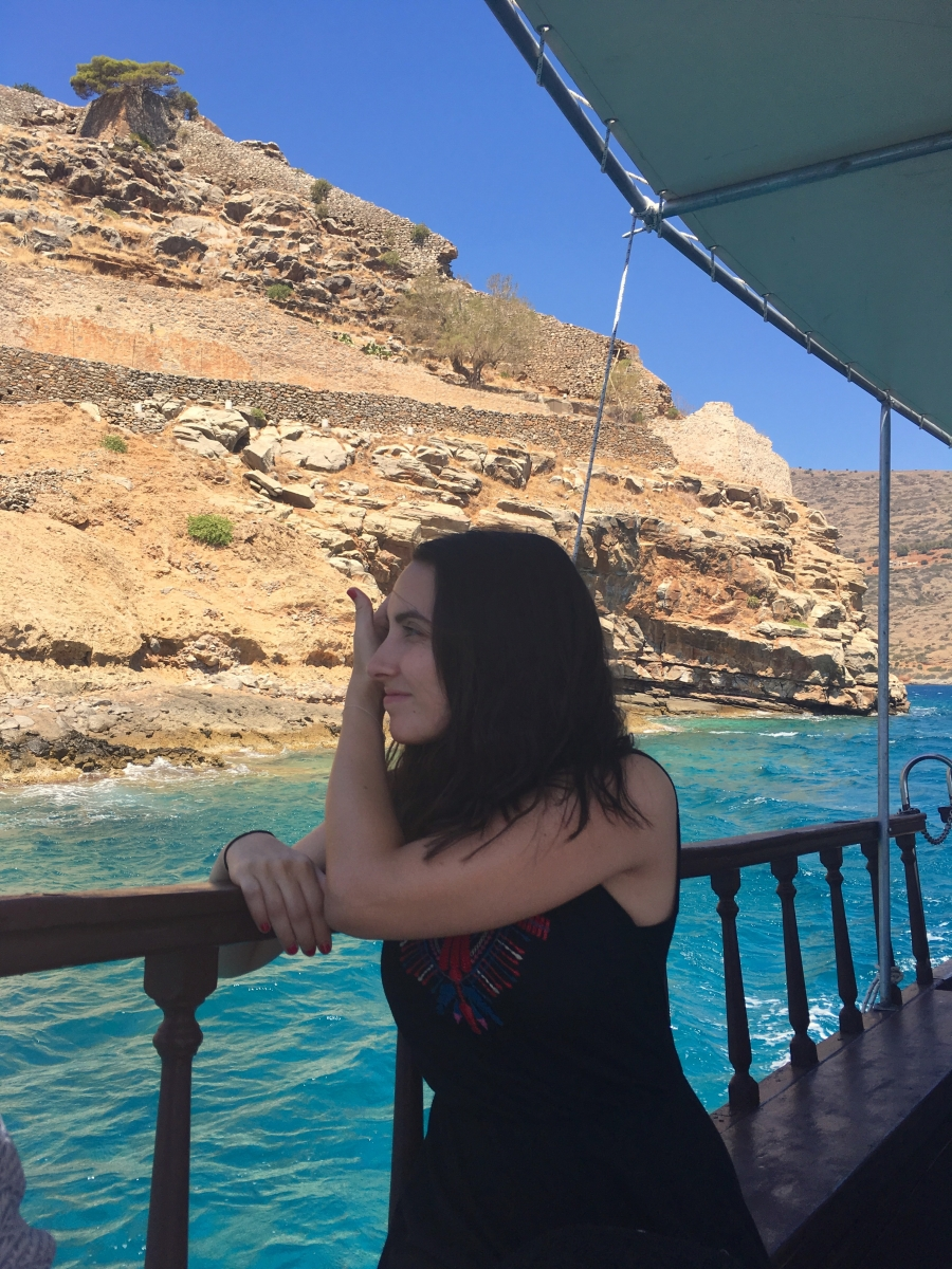 spinalonga by boat