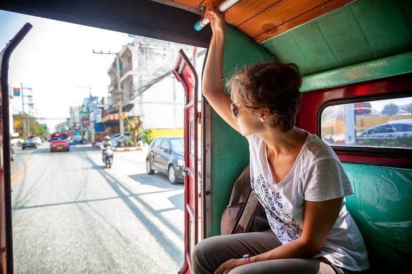 Songthaew transport Thailand