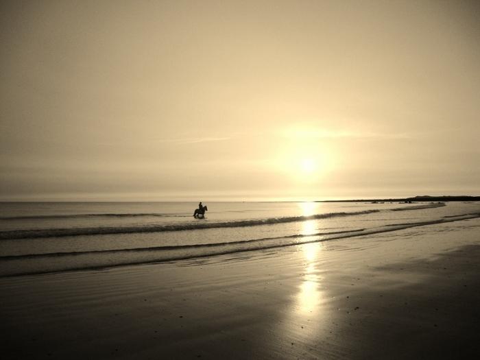 rhosneigr beach sunset