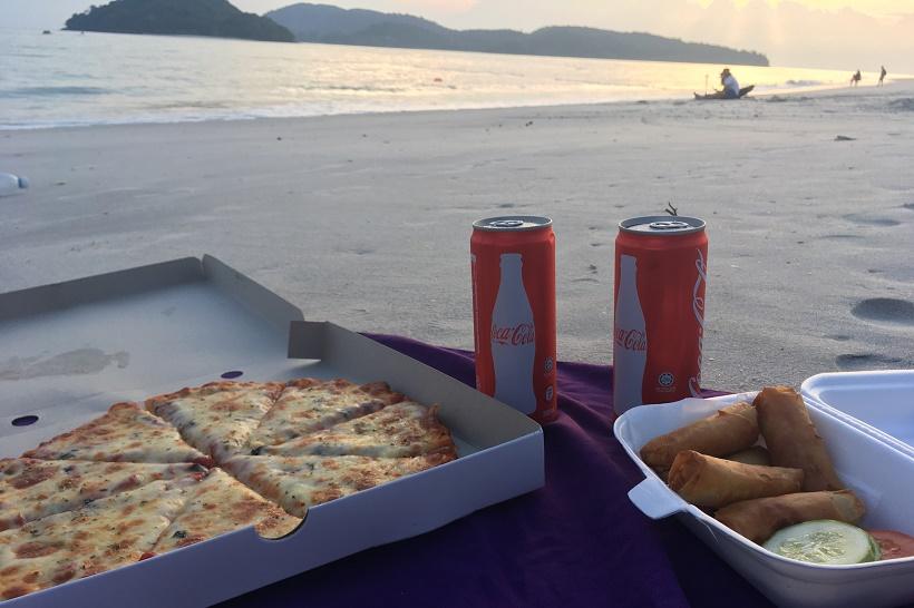 Langkawi beach picnic