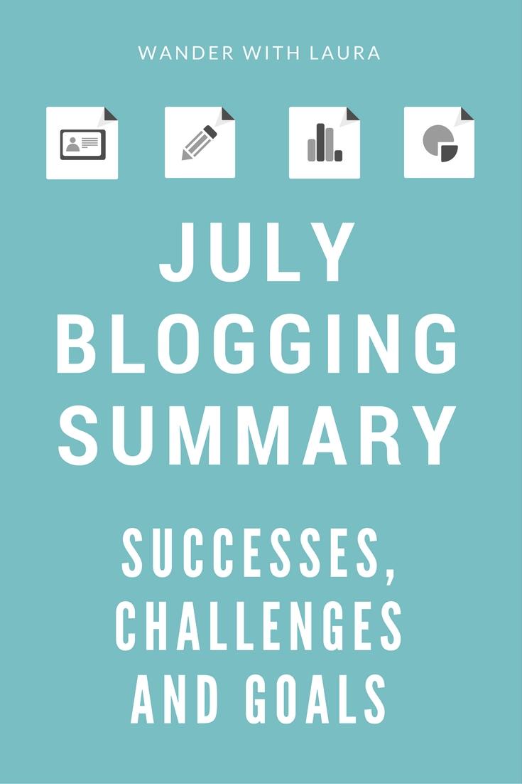 July Blogging Summary