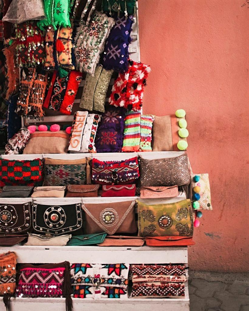 Handbag shopping in Marrakech