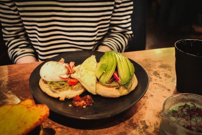 Halloumi and avocado muffin