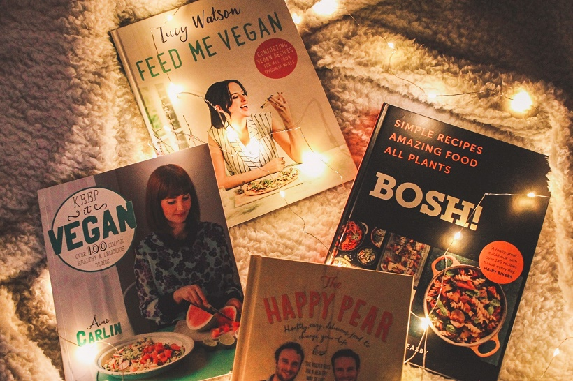 Vegan cookbooks with lights