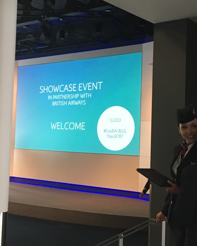 British Airways showcase event