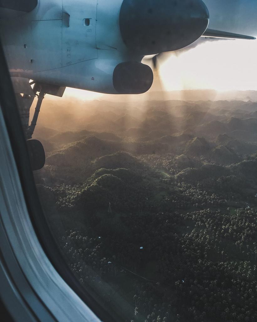 View from flight to Legazpi