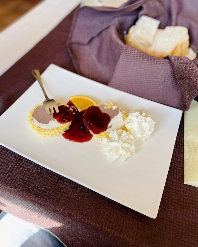 Dessert at Gostišče UH Kavalar