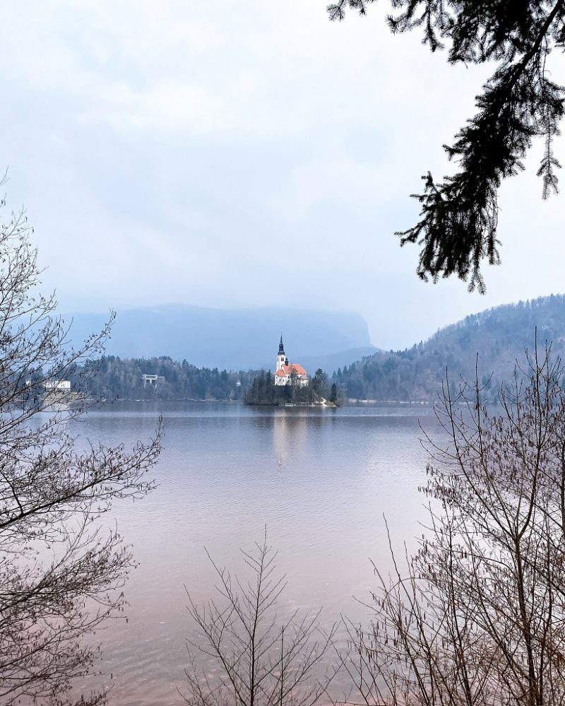 Lake Bled Slovenia in March